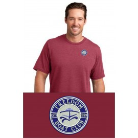 District Made® Mens Perfect Blend® Crew Tee. DM108. - Heathered Red