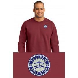 Anvil® Crewneck Sweatshirt. 71000. - Independence Red