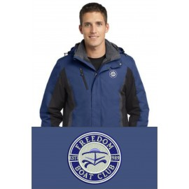 Port Authority® Colorblock 3-in-1 Jacket. J321. - Admiral Blue/Black/Magnet Grey