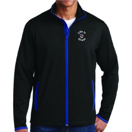 Sport Tek Mens Sport Wick Stretch Contrast Full Zip Jacket Aps Promotional Solutions Quality wicking apparel at discount prices. aps promotional solutions